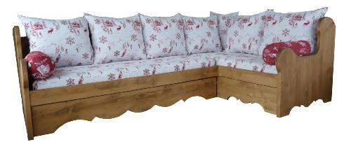 Banquette d'angles lit gigogne